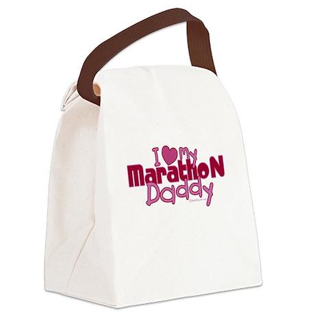 I Love My Marathon Daddy Canvas Lunch Bag