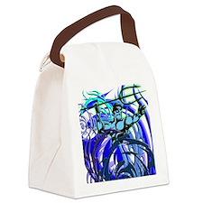 Poseidon Ocean Flames Canvas Lunch Bag
