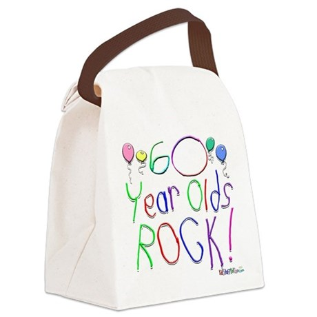 60 Year Olds Rock ! Canvas Lunch Bag