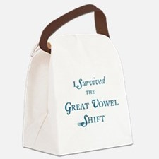 """Great Vowel Shift"" Canvas Lunch Bag"