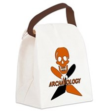 Skull & Crossed Trowels Canvas Lunch Bag
