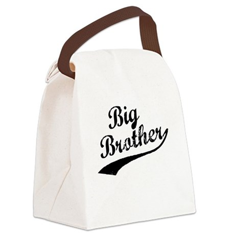 Big Brother (Black Text) Canvas Lunch Bag