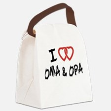 I Love Oma and Opa Canvas Lunch Bag