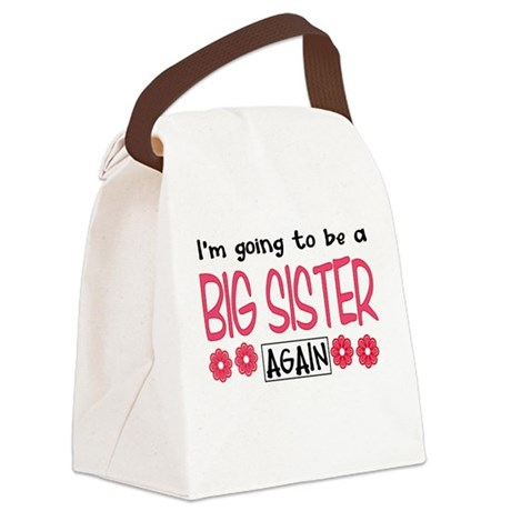 Big Sister Again Canvas Lunch Bag