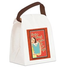 Canvas Lunch Bag: I'm just one stomach flu away