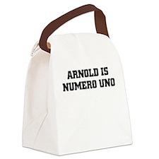 ARNOLD IS NUMERO UNO Canvas Lunch Bag