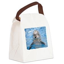 Helaine's Dolphin Canvas Lunch Bag