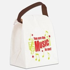 You Are The Music In Me Canvas Lunch Bag
