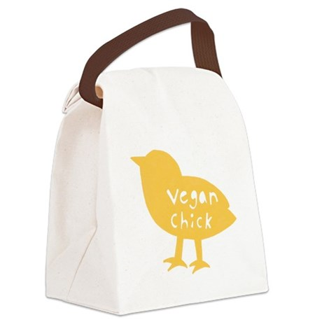 Vegan Chick Canvas Lunch Bag (off white)