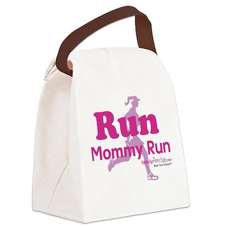 Run Mommy Run Canvas Lunch Bag