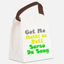 Get Me Makki De Roti te Sarso Canvas Lunch Bag