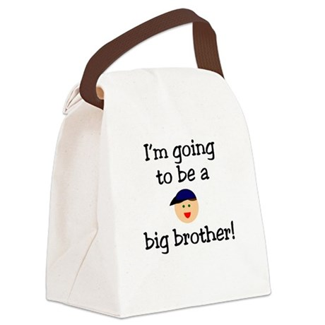 I'm going to be a big brother Canvas Lunch Bag