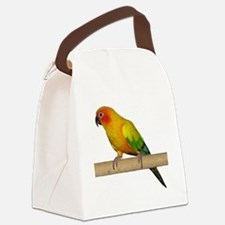 Sun Conure Canvas Lunch Bag