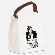 Zip It Hippie Canvas Lunch Bag