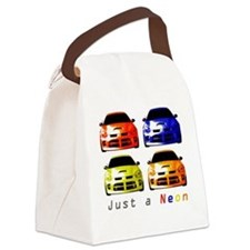 Just a Neon Canvas Lunch Bag