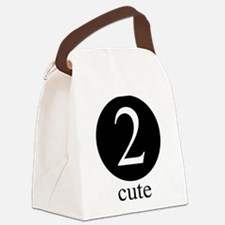 Cute Fun twin Canvas Lunch Bag