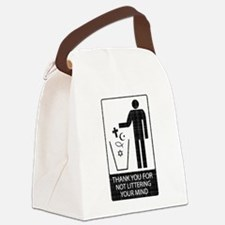 Anti-Religious (vintage look) Canvas Lunch Bag