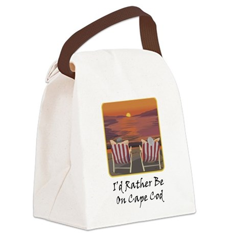 I'd Rather Be At Cape Cod Canvas Lunch Bag