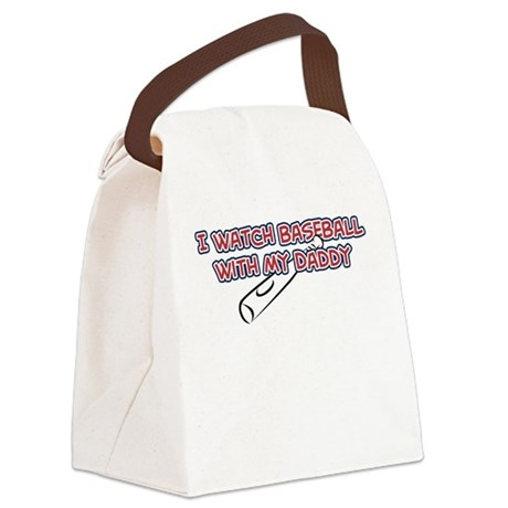 Boston Baseball Daddy Canvas Lunch Bag