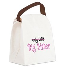 Only to Big Sister Curly Canvas Lunch Bag