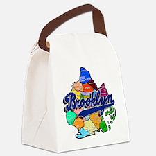 Brooklyn Boro Map Canvas Lunch Bag
