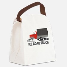 Ice Road Truck Red Canvas Lunch Bag