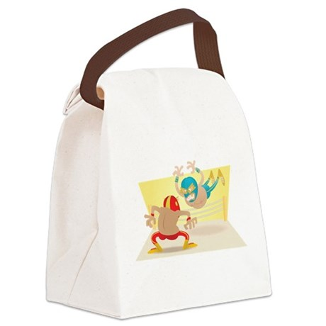 Mexican Wrestling! Canvas Lunch Bag