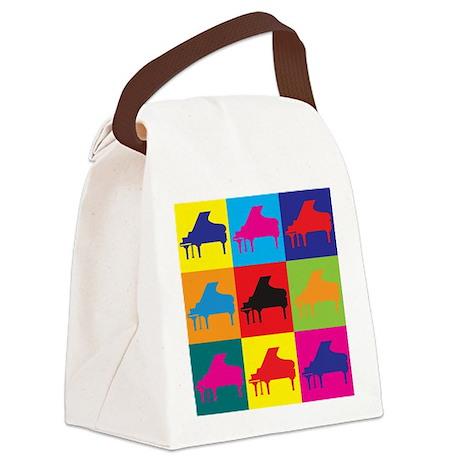 Piano Pop Art Canvas Lunch Bag