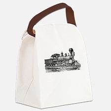Locomotive (Black) Canvas Lunch Bag