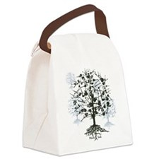 Guitar Tree Roots Canvas Lunch Bag