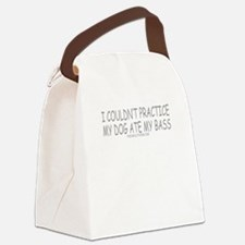 Dog Ate Bass Canvas Lunch Bag