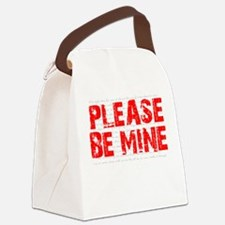Please Be Mine Canvas Lunch Bag