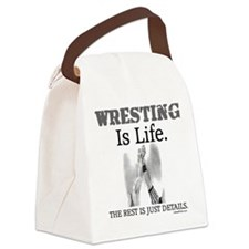 WRESTLING Is Life. Canvas Lunch Bag