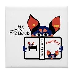 Best Friend Tile Coaster