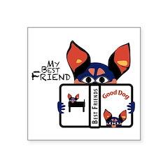 Best Friend Square Sticker 3