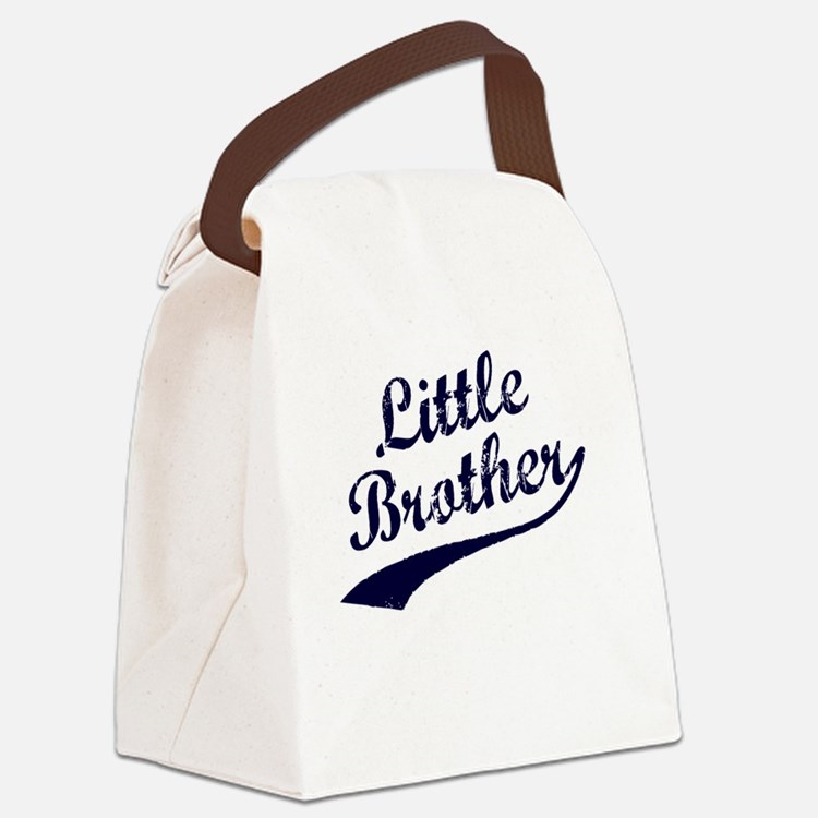 Little Brother (Blue Text) Canvas Lunch Bag