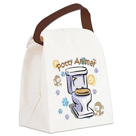 Potty Animal Canvas Lunch Bag