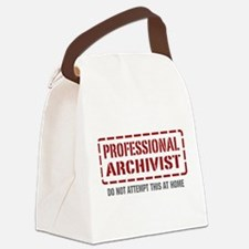Professional Archivist Canvas Lunch Bag