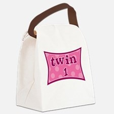 Cute Fraternal twins Canvas Lunch Bag