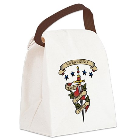 Love Embalming Canvas Lunch Bag