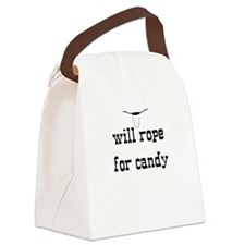 Canvas Lunch Bag- Will rope for candy