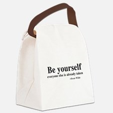 Oscar Wilde - Be Yourself Canvas Lunch Bag
