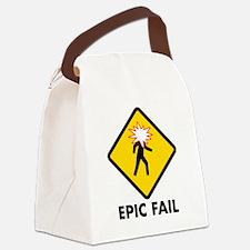 Epic Fail Canvas Lunch Bag