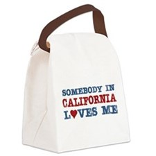Somebody in California Loves Me Canvas Lunch Bag