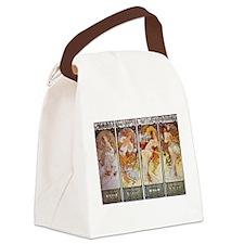 Les Saisonns (The Seasons) Canvas Lunch Bag