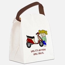 Scooter Girl Canvas Lunch Bag