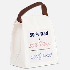 """""""100% Cute"""" - Blue Canvas Lunch Bag"""