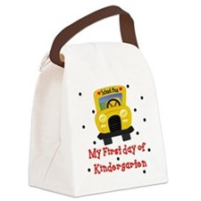 My First Day of Kindergarten Canvas Lunch Bag
