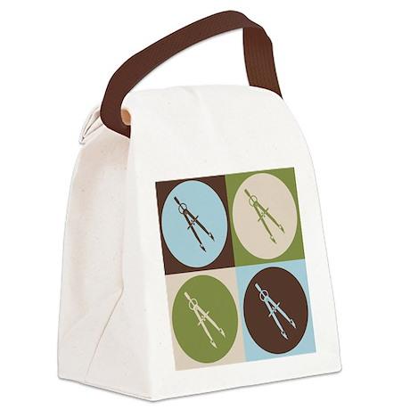 Architecture Pop Art Canvas Lunch Bag