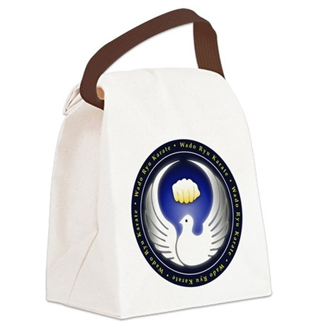Wado Ryu Dove and Fist Canvas Lunch Bag